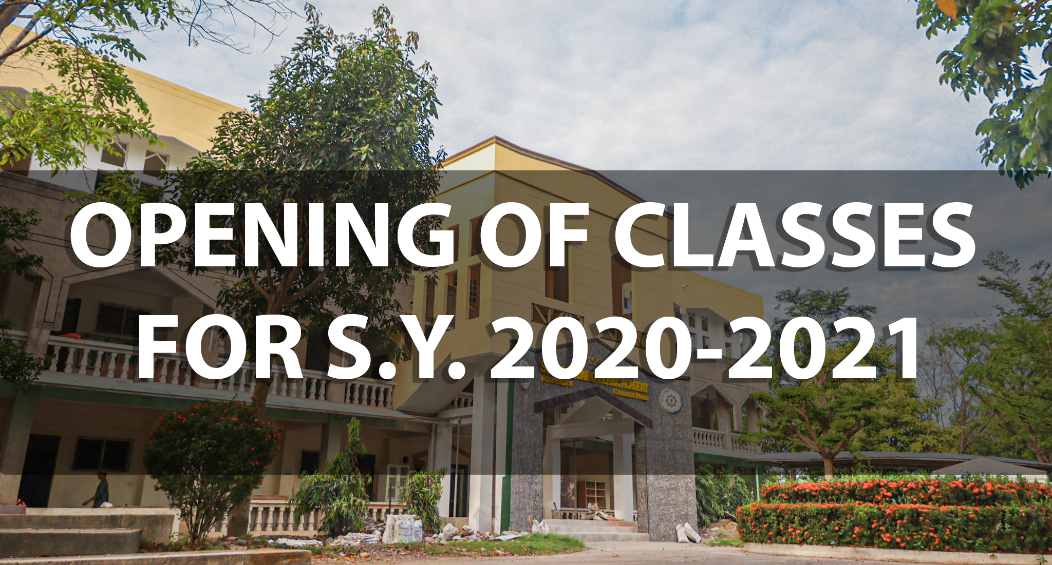 SKIA OFFICIAL STATEMENT ON THE OPENING OF CLASSES FOR S.Y. 2020-2021