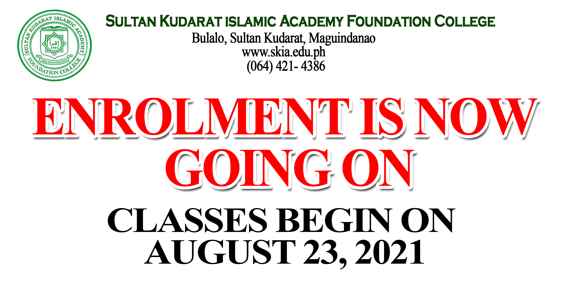 ENROLLMENT IS NOW GOING ON FOR S.Y. 2021-2022!